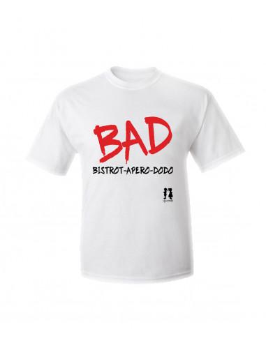 T-shirt humour pour adulte BAD bistrot Apéro dodo