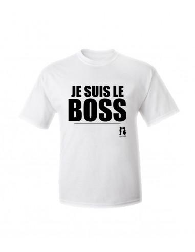 T-shirt humour pour adulte JE SUIS LE BOSS