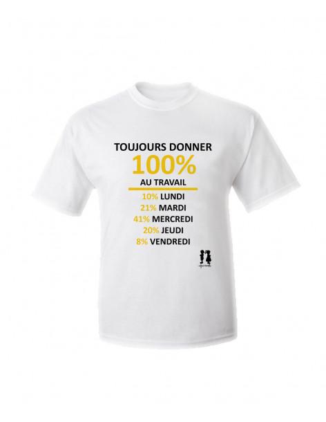 T-shirt humour pour adulte Toujours donner
