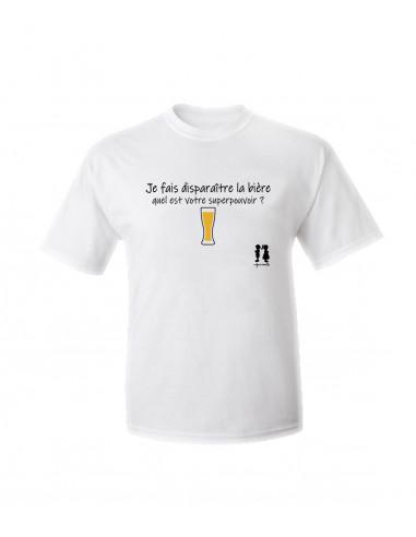 T-shirt humour pour adulte je fais disparaître la bière